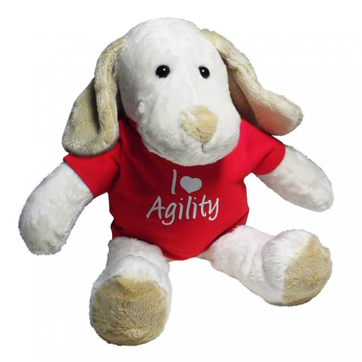 Agilitini sportswear toy dog rufus with printed t shirt for T shirt dog toy