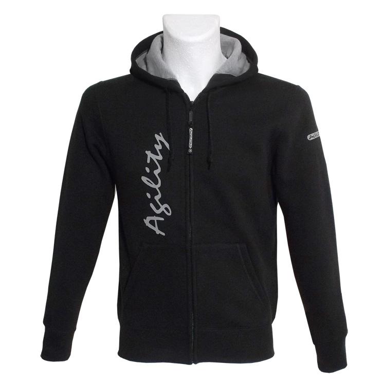 agilitini sportswear unisex sweatshirt jacke mit kapuze. Black Bedroom Furniture Sets. Home Design Ideas