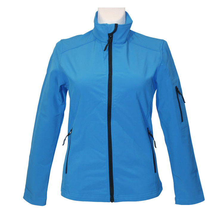 agilitini sportswear damen softshell jacke blau mit. Black Bedroom Furniture Sets. Home Design Ideas