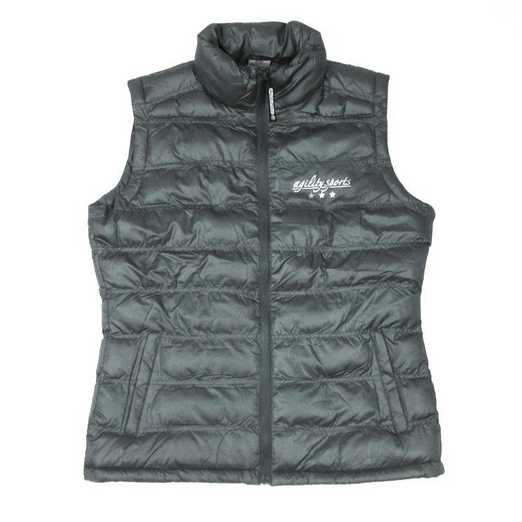 290ba39c538780 Agilitini Sportswear - Wattierte Damen Weste in grau